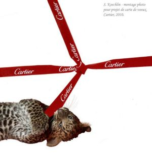 Projet de carte de voeux pour Cartier, photomontage, 2010