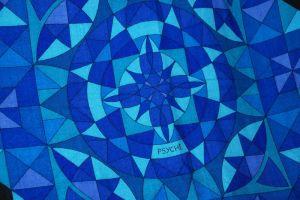 17 - Plaid « Psyché » bleu, détail