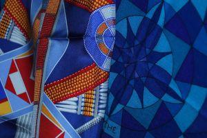 19 - Carré « L'Art Indien des Plaines », et plaid « Psyché »